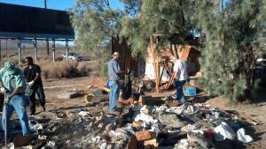 HomelessShack 20130906 cleaning