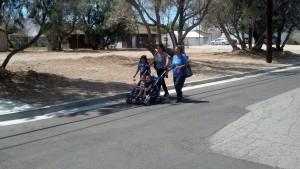 Sidewalks - family walking